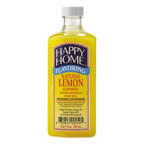 Happy Home Natural Lemon Flavor Blend - 7 fl oz Bottle