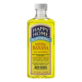 Happy Home Natural Banana Flavor - 7 fl oz Bottle