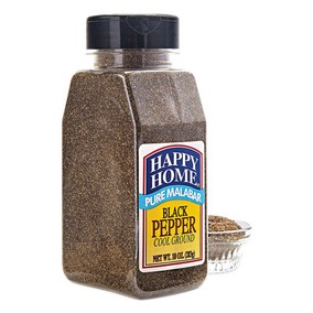 Happy Home Black Malabar Pepper - 10 oz Bottle